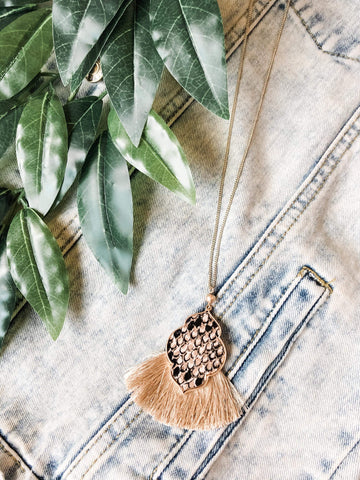 Snake and Tassel Necklace