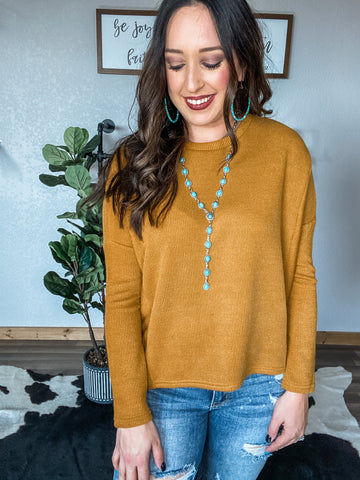 Turquoise Concho Lariat Necklace