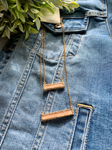 The Double Bar Necklace