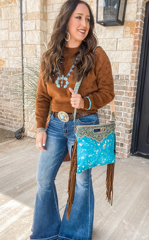 Stained With Turquoise Purse