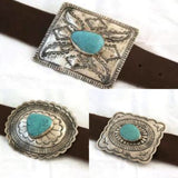 The Beau Buckle with Turquoise Stone