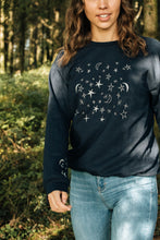 Load image into Gallery viewer, Embroidered Christmas night sky sweater