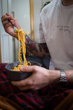 Load image into Gallery viewer, Embroidered Pasta organic t-shirt