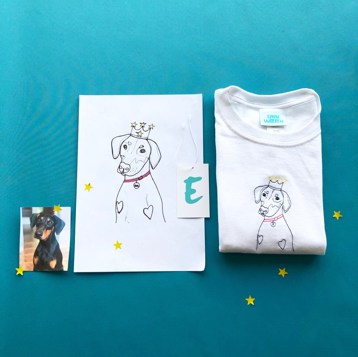 t-shirt with queen bea embroidery