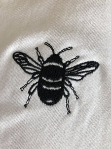 t-shirt with bee embroidery