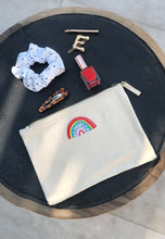 Load image into Gallery viewer, rainbow embroidered accessory pouch