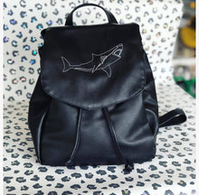 Load image into Gallery viewer, Embroidered shark backpack
