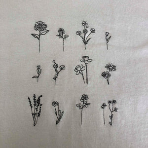 t-shirt with floral embroidered design