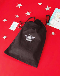 Embroidered organic reusable 'Gift' bags