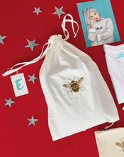 Load image into Gallery viewer, Embroidered organic reusable 'Gift' bags