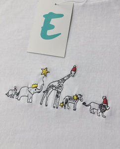 organic embroidered xmas party animal tee / sweater