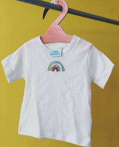 Kids Embroidered rainbow tee