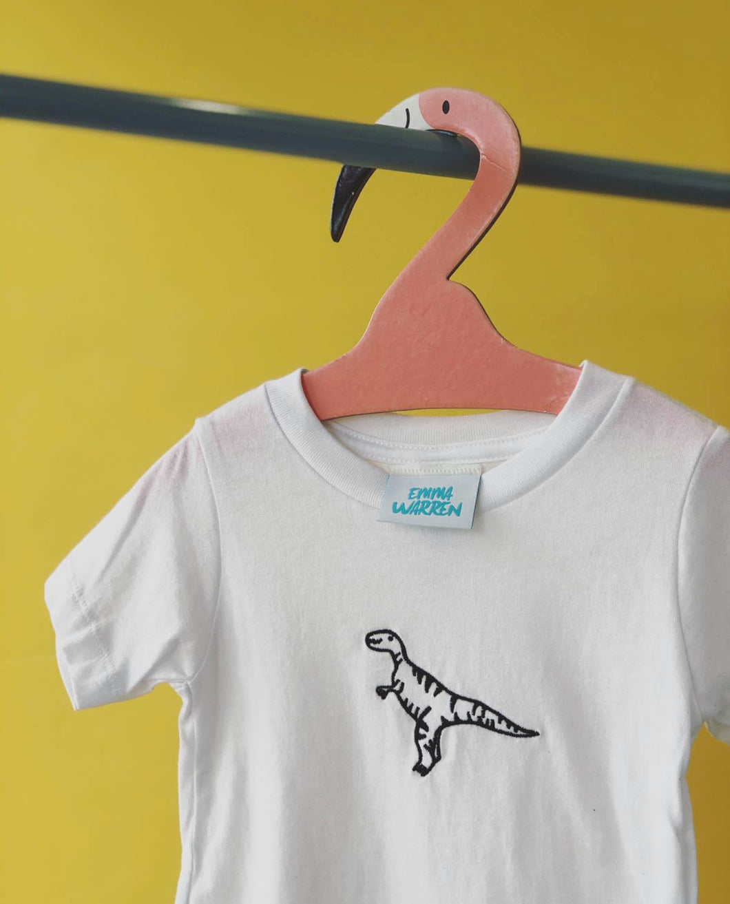 Kids Embroidered George the dinosaur tee