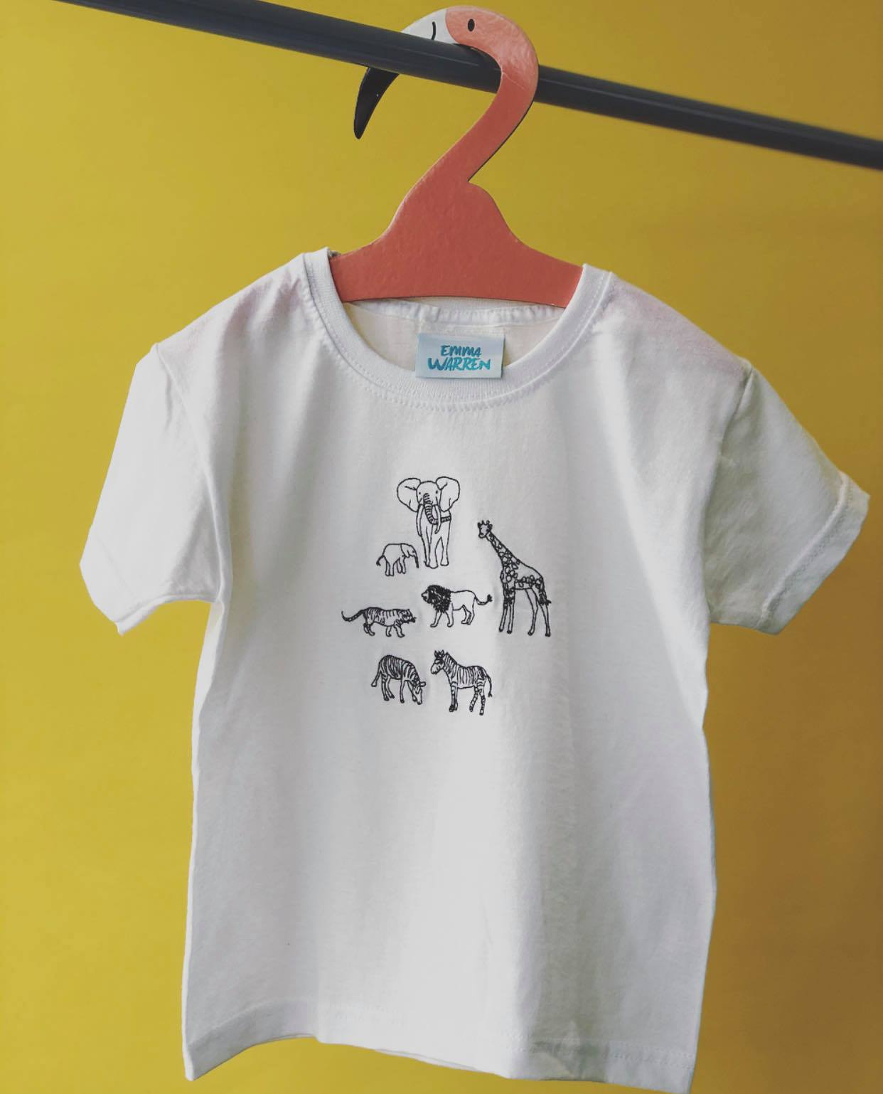 Embroidered Animal tee
