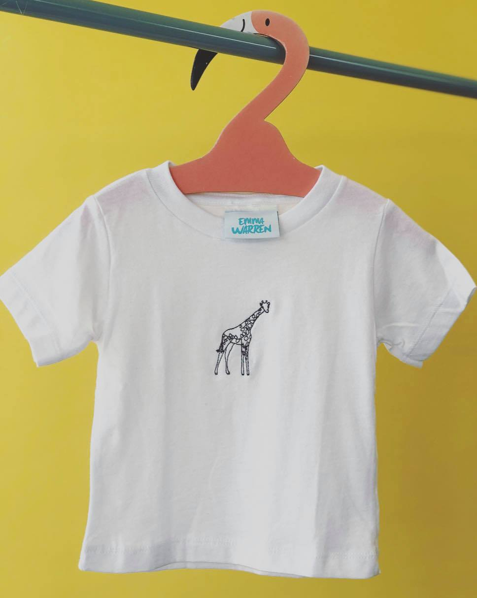 Kids Embroidered Giraffe tee