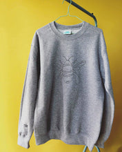Load image into Gallery viewer, Embroidered big bee with mini bee sleeve sweater