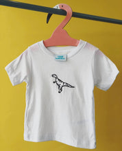Load image into Gallery viewer, Kids Embroidered George the dinosaur tee