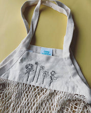Load image into Gallery viewer, Embroidered 'market treats' Floral bag