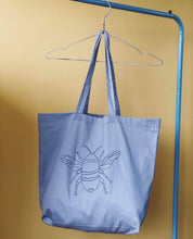 Load image into Gallery viewer, Big bee embroidered tote bag