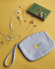 Load image into Gallery viewer, everything will be ok sun embroidered accessory purse / make up bag