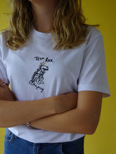 Load image into Gallery viewer, organic embroidered Tree rex xmas t-shirt