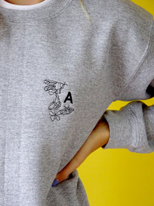 Embroidered bug initial Sweater