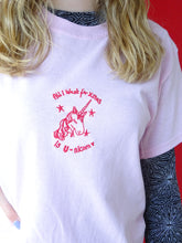 Load image into Gallery viewer, organic embroidered unicorn xmas t-shirt