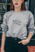 Load image into Gallery viewer, unisex sweatshirt with stop buggin embroidered slogan