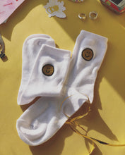 Load image into Gallery viewer, Embroidered smiley face socks