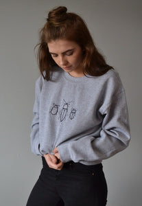 Embroidered bug trio Sweater