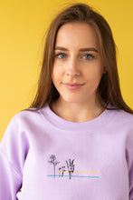 Load image into Gallery viewer, Embroidered floral colour block Sweater