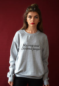 Embroidered Crazy wild xmas Sweater