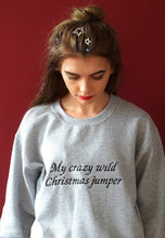 Load image into Gallery viewer, Embroidered Crazy wild xmas Sweater