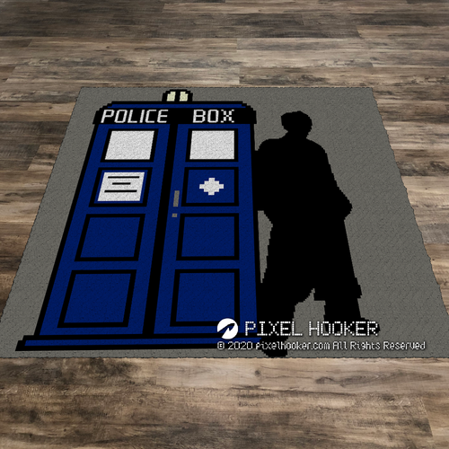 Tardis and Dr Who (Row by Row)