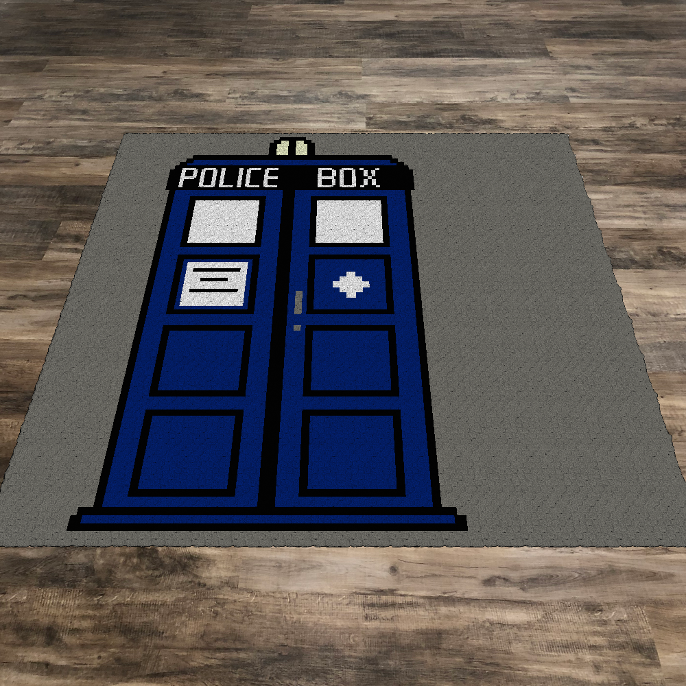 Dr Who Tardis (Row by Row)