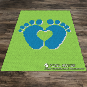 3D Baby Feet Forming a Heart