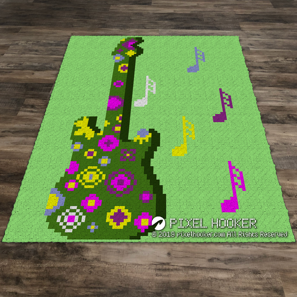 3D Flowerful Guitar