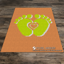 Load image into Gallery viewer, 3D Heart Between Feet