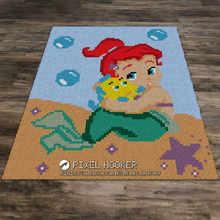Load image into Gallery viewer, Baby Ariel with Flounder