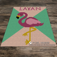 Load image into Gallery viewer, Multi Colour Background Flamingo