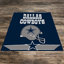Load image into Gallery viewer, Dallas Cowboys Logo and Helmet (Row by Row Pattern)