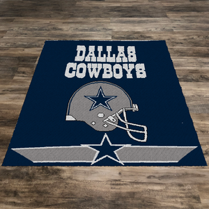 Dallas Cowboys Logo and Helmet (Row by Row Pattern)