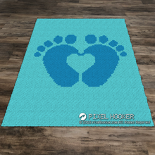 Load image into Gallery viewer, 2D Baby Feet Forming a Heart