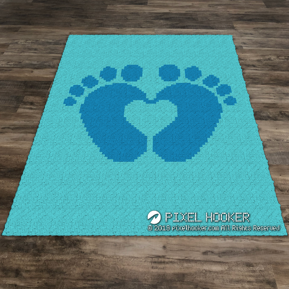 2D Baby Feet Forming a Heart