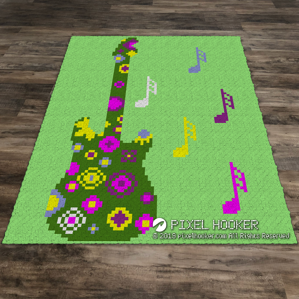 2D Flowerful Guitar