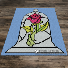 Load image into Gallery viewer, Rose in Stained Glass