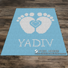 Load image into Gallery viewer, 2D Heart Between Baby Feet