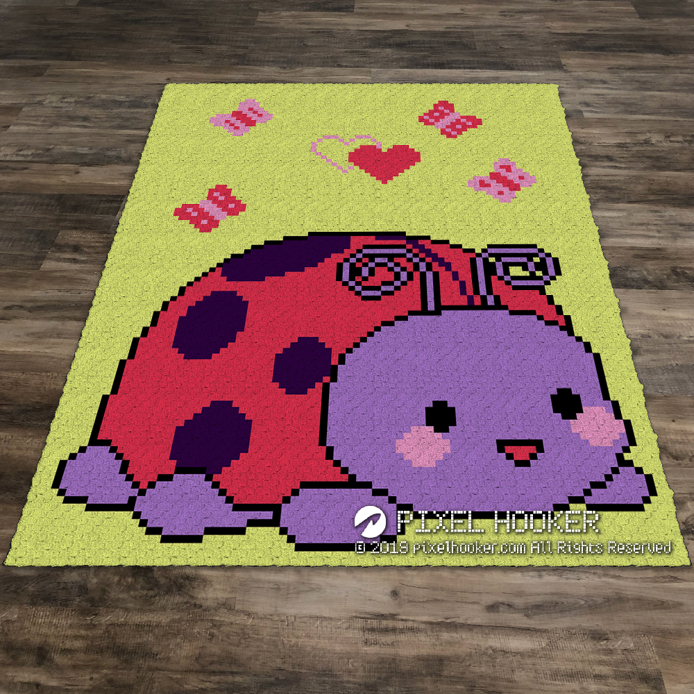 Purple Ladybug (Butterflies and Hearts)