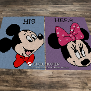 His and Her Mickey and Minnie set