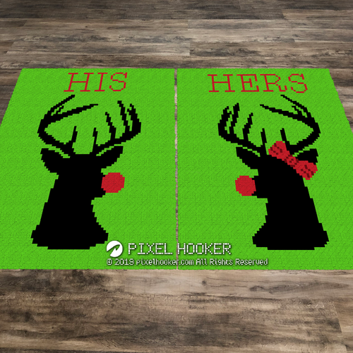 His and Her Reindeer set